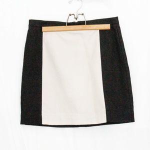 LOFT Black and Beige Skirt